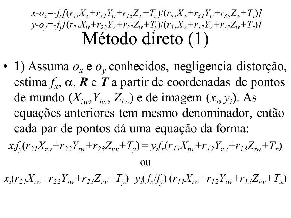 x-ox=-fx[(r11Xw+r12Yw+r13Zw+Tx)/(r31Xw+r32Yw+r33Zw+Tz)]